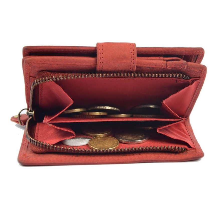 Wallet buffalo leather - wallet with many cards - Wallet men - Wallet - Wallet Quality - Unisex wallet - Red