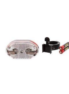 Discountershop Fiets koplamp met houder met twee GRATIS AAA batterijen
