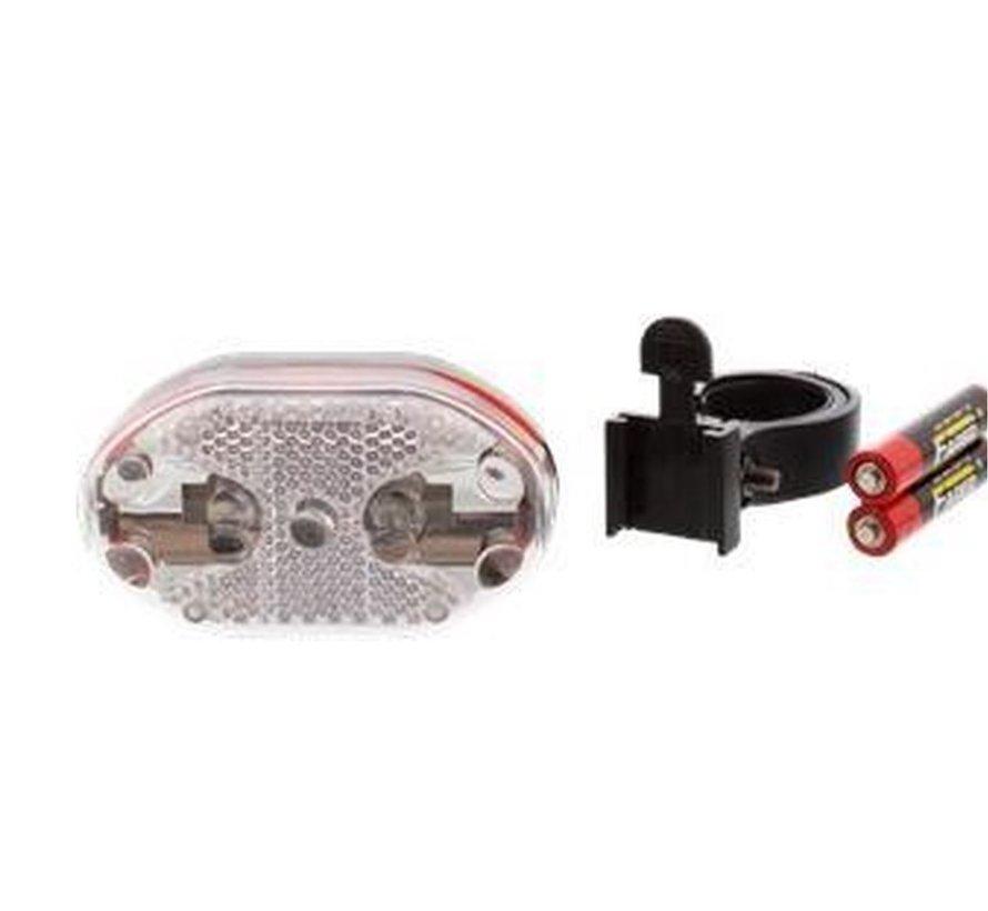 Fiets koplamp met houder met twee GRATIS AAA batterijen