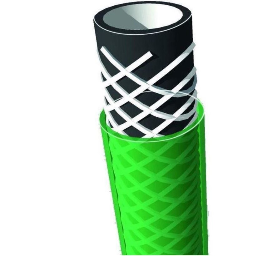 Garden hose -  Water - Sprinkler - Green - 25 meters - Roll up - Roll