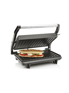 Discountershop Contact Grill - Grill - Toasti - Baking - Grill plates - Non-slip feet - Offer - Professional - Contact grill test - Tristar - 22.5 X 14 cm