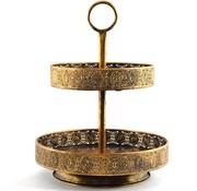 Discountershop Metalen schaal - Gouden fruitschaal - Gouden schaal groot - Goud Schaaltje - Schaal - Gouden Etagere
