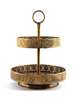 Discountershop golden fruit bowl