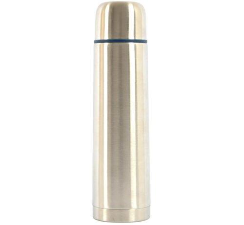 Discountershop Insulated bottle - Thermo bottle - Drinking bottle - Water bottle - Steel - Screw cap insulated bottle - insulated bottle - tea - thermos - Bottle - vacuum bottle - Gray - Silver