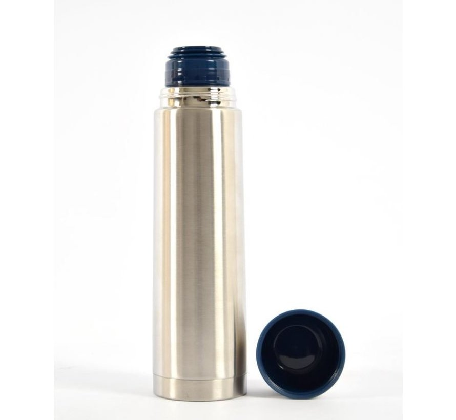 Insulated bottle - Thermo bottle - Drinking bottle - Water bottle - Steel - Screw cap insulated bottle - insulated bottle - tea - thermos - Bottle - vacuum bottle - Gray - Silver