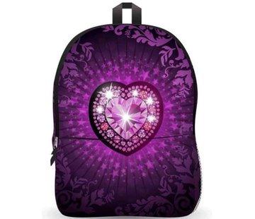 Discountershop Rugtas - schooltas Ekuizai LED Schooltas / Rugzak - Back to school - Heart model