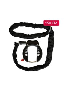 Discountershop Duo Deal bicycle lock 150 cm - Frame lock with chain - Bicycle lock with chain