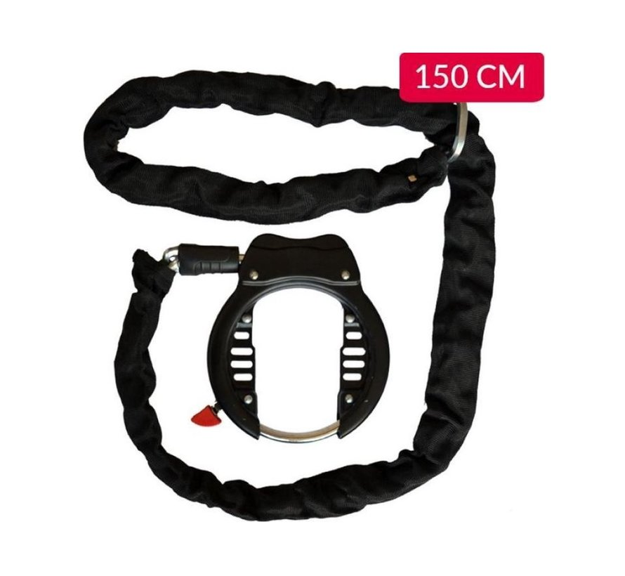 Duo Deal bicycle lock 150 cm - Frame lock with chain - Bicycle lock with chain
