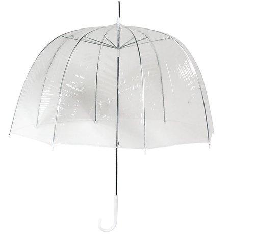 Discountershop Paraplu - Koepelparaplu Transparant - Koepelparaplu PVC Diameter Ø 82 cm