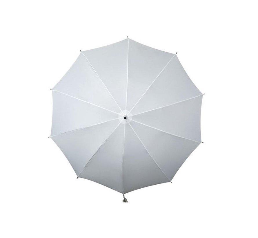 Paraplu Diameter 98 cm- Schouderparaplu - Wit-  Paraplu met schouderband wit