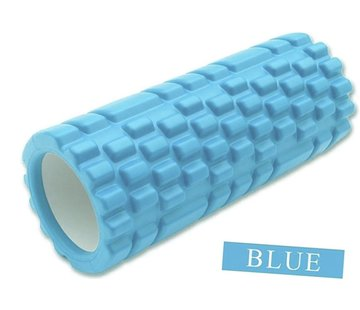 Discountershop Massage Roller Massage Roller Foam Roller Fitness Sport Trigger Point Massage Yoga 14.5 x 33 cm Blue