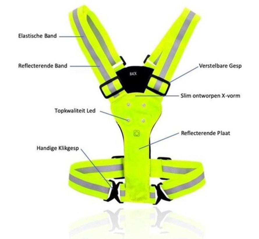 Goedkope Discountershop Reflecterend hardloopvest - Hardlopen - Led Vest - Hardloopaccesoire
