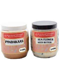 Discountershop Pindakaas SunFlower Seed Butter voor tuinvogels - Tuinvogels - vogelvoer - Vogelpindakaas - tuinvogelvoer - Vogelhuisje