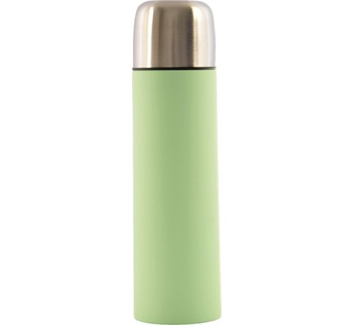 Discountershop Thermos bottle - Insulated bottle - Thermos cup - Insulation jug - Insulated bottle 8 x 8 x 28 cm - Content of 700 ml - Insulated bottle 8 x 8 x 28 cm - Content of 0.7 liters soft touch - Green - Mint Green