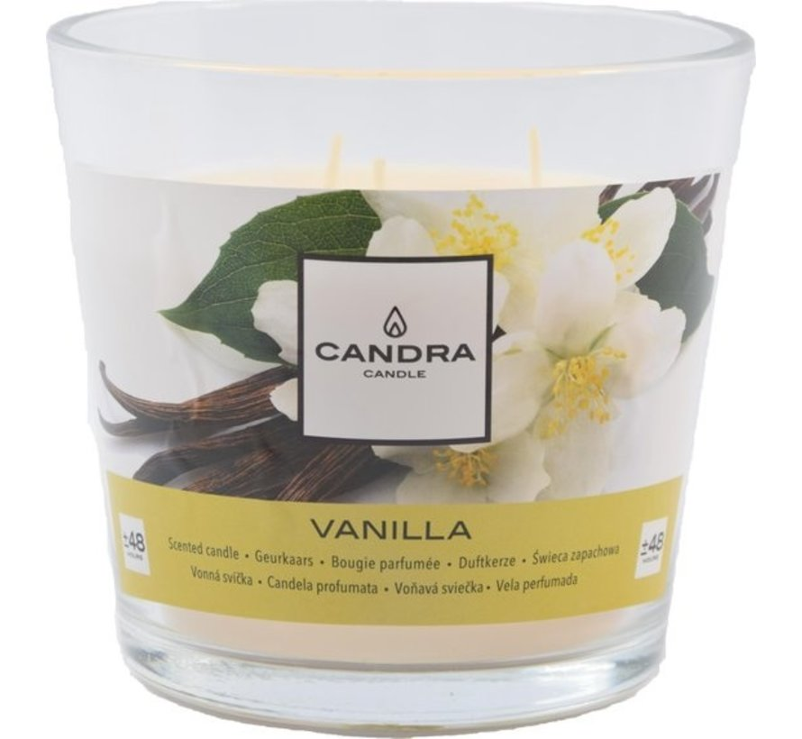 1x SCENTED CANDLE XL WITH 3 WICKERS - VANILLA - Ø13.5X12.5 CM