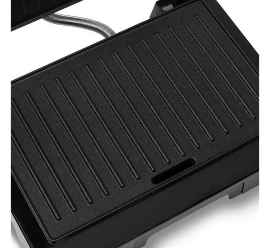 Tristar contact grill 1000 Watt With Anti-Stick coating - Contact grill 1000W - luxurious appearance - perfect for the most delicious sandwiches and paninis, also for a nice piece of meat