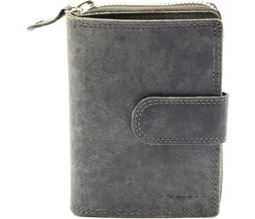 Wallet - wallet ladies - wallet men - wallet cards - Wallet credit card - Wallet with credit card holder - credit card wallet - Leather wallet - Credit card holder - Gray - RFID Protected Anti skim - 4E-401