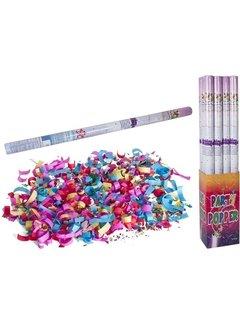 Discountershop Discountershop party popper - 1x Party confetti shooter 100 cm - party popper confetti kanon