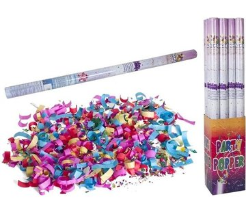 Discountershop Discount shop party popper - 1x Party confetti shooter 100 cm - party popper confetti cannon