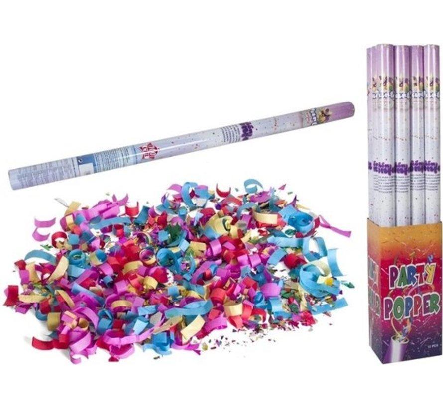 Discountershop party popper - 1x Party confetti shooter 100 cm - party popper confetti kanon