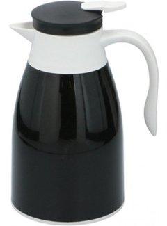 Discountershop Thermoskan 1 liter- isoleerkan - thee Thermoskan - Zwart
