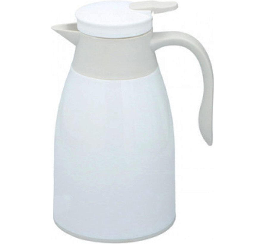 Thermoskan 1 liter- isoleerkan - thee thermoskan - Thermos - Wit