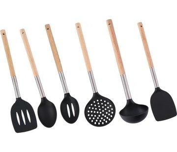 Merkloos Cookware Set / Cooking utensils set of 6 pieces - Set Kitchen utensils - 34 cm
