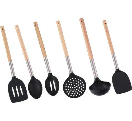 Discountershop Cookware Set / Cooking utensils set of 6 pieces - Set Kitchen utensils - 34 cm