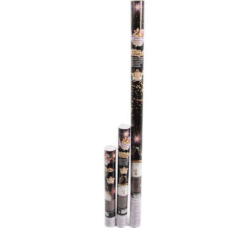 Discountershop Discountershop 3x Party confetti shooter 100- 50- 40 cm - party popper confetti kanon