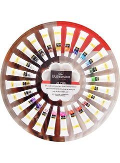 Discountershop Acrylic Paint Set of 25 pieces - 25 Pieces - 12 ML | Acrylic Paint Set- With 12 ml tubes - 24 different colors