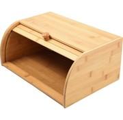 Discountershop Bamboe Broodtrommel  Met Rolluik - Broodtrommel Goedkoop Online - Broodtrommel blokker 40 CM