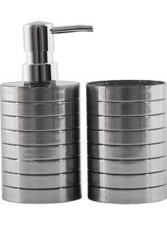 Discountershop Zeep dispenser en tandenborstelhouder - Badkamer inspiratie - badkamer accessoires