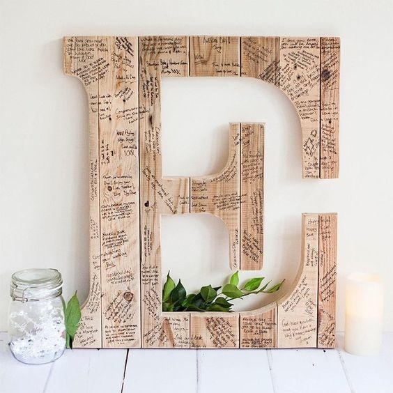 Letter Wedding Guestbook