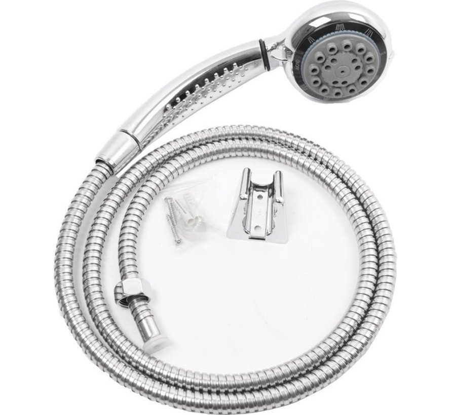 Bath Shower set with shower head - wall holder option - 8 spray positions - hand shower for bathroom - shower set for bathroom - Stainless Steel