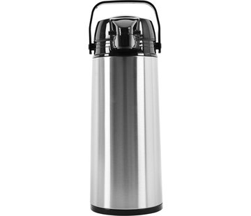 Discountershop Thermos flask - vacuum insulated jug ​​- Thermos 1.9 liter - Insulated Thermos for tea - Water bottle - stainless steel