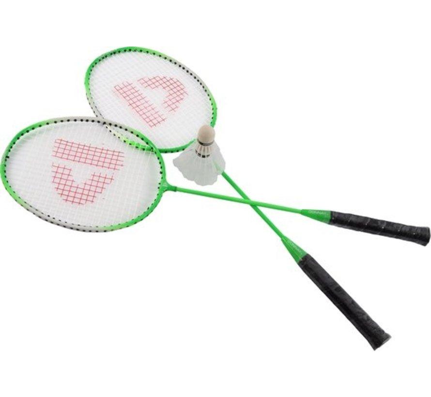 Badminton set Inclusief 3 shuttles Badminton - Badminton racket - badminton shuttles -