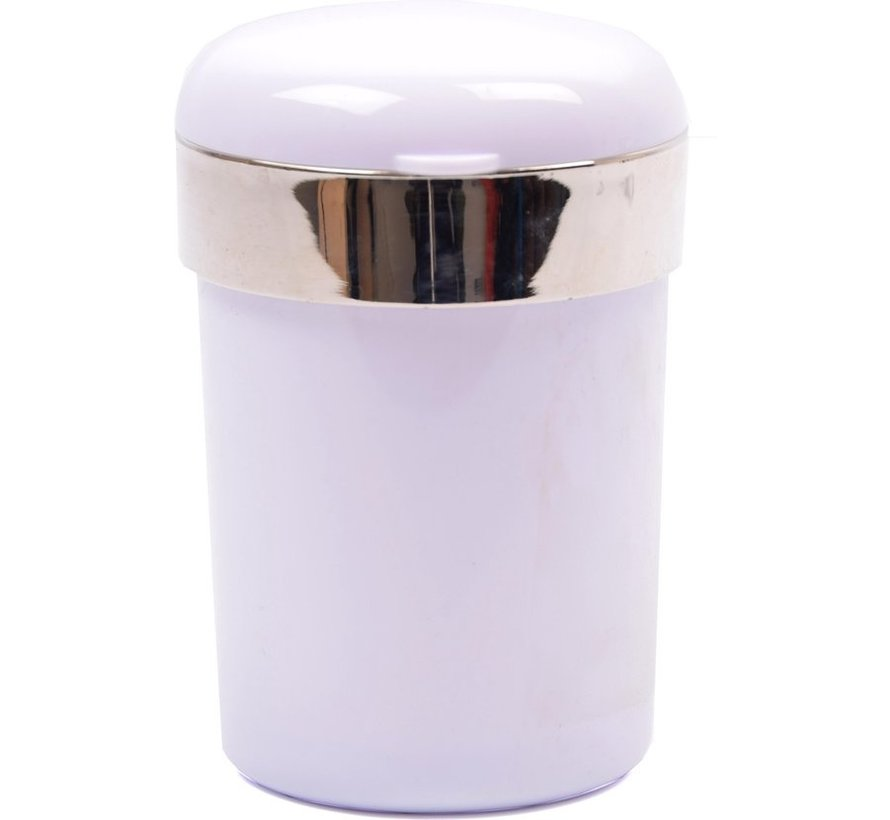 "Car ashtray / Odorless Car Ashtray / With LED lighting / incl ""FREE BATTERY"" White - Car ashtray White"