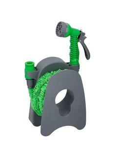 Discountershop Discountershop 15 meter expandable garden hose with spray gun & wall bracket