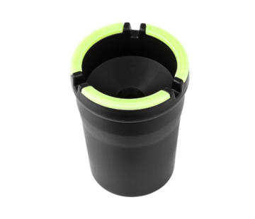 Discountershop Car ashtray - Odorless Car Ashtray Black - Car ashtray black