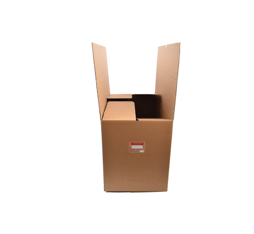 Moving box - 10 pieces - 80 liters - Professional, self-closing and sturdy 63x34x41cm