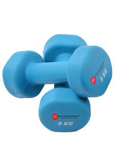 Discountershop Handgewicht Set 2x3 KG -  Dumbbell set 6 Kg - Gewichten 6 Kilo