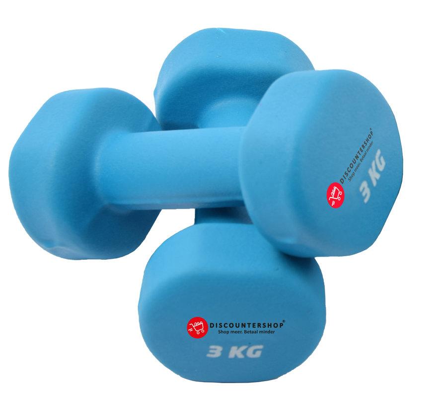Handgewicht Set 2x3 KG -  Dumbbell set 6 Kg - Gewichten 6 Kilo