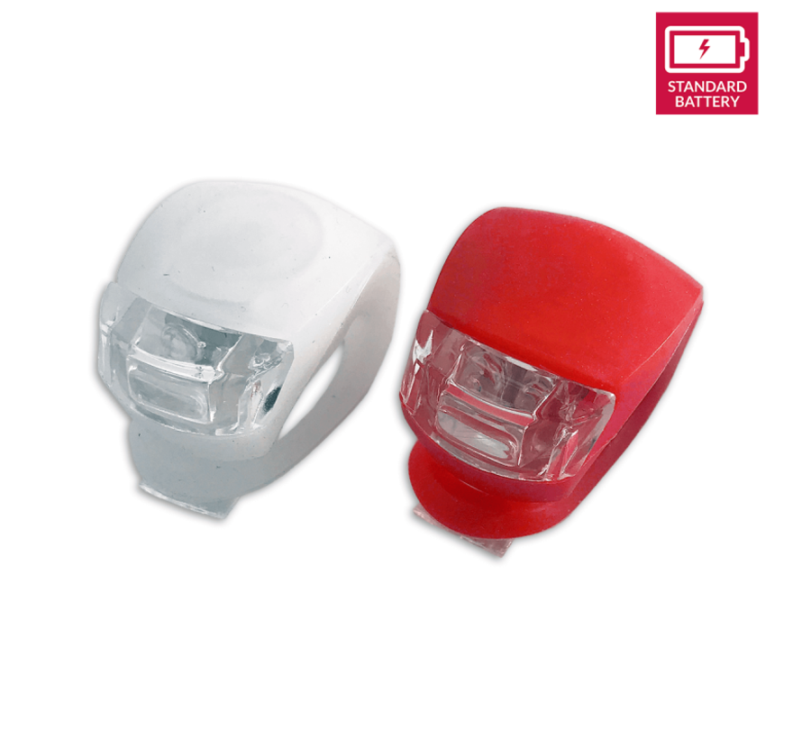 Bicycle lights LED front light and rear light silicone set of 2 - Bicycle lights front light and rear light lighting set - Bicycle lights children bicycle lighting set waterproof silicon