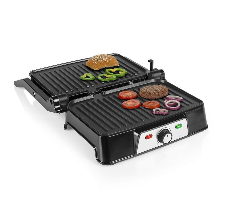 Tristar PD-8707 - Contact grill 2in1 - 1500 W - With Non-stick coating - 25.5 x 15.5 cm