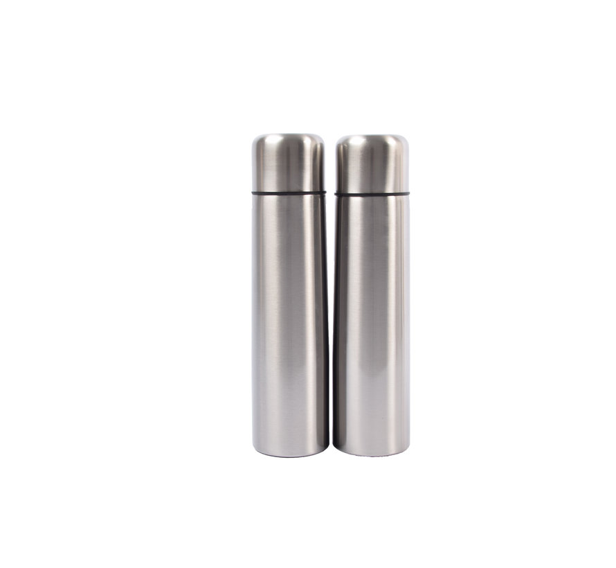 Set of 2x stainless steel thermos / insulated bottle 1Liter