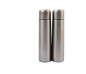 Discountershop Set of 2x stainless steel thermos / insulated bottle 1Liter