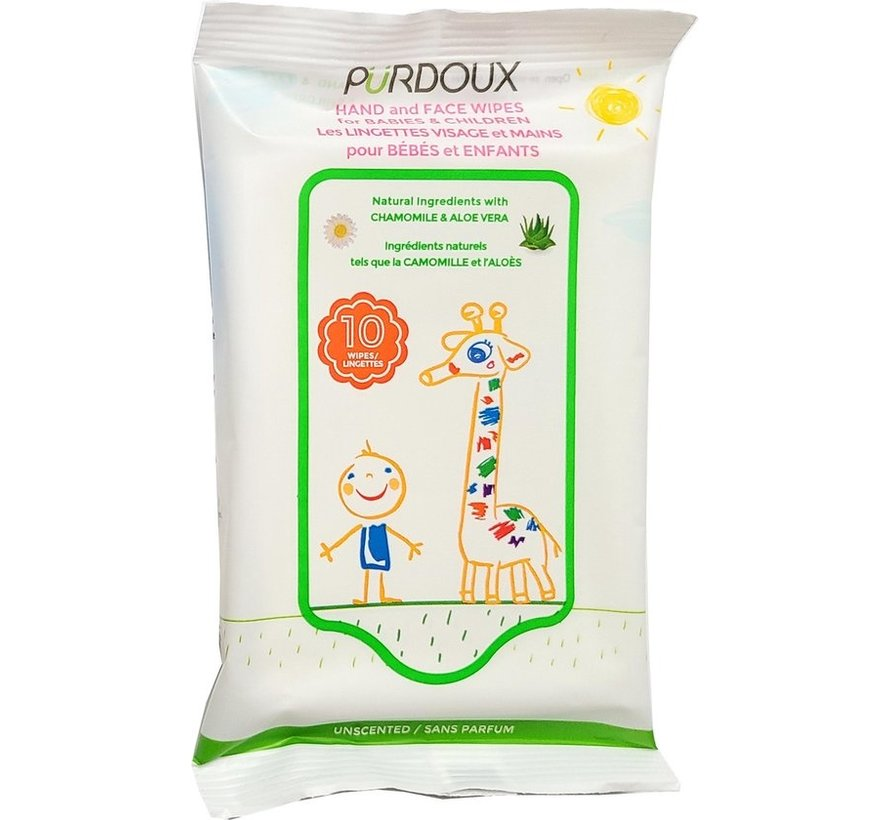 Cleansing wipes -50 pieces - Sensitive skin - Value pack 4 pieces - Wipes for babies and children.