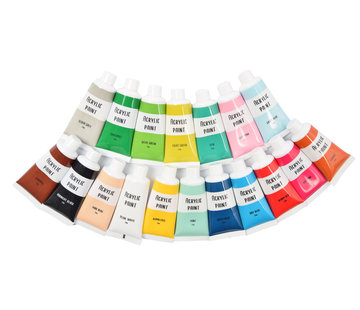 Discountershop Discountershop Acrylverf-set 18x21 ml - ACRYL VERFSET - Multi color