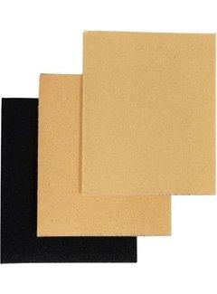 Discountershop Sandpaper 14 cm x 11.4 cm - 36 pieces