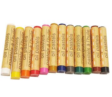 Crafts Crafter's set 12 kleuren krijtjes pastels oliepastels